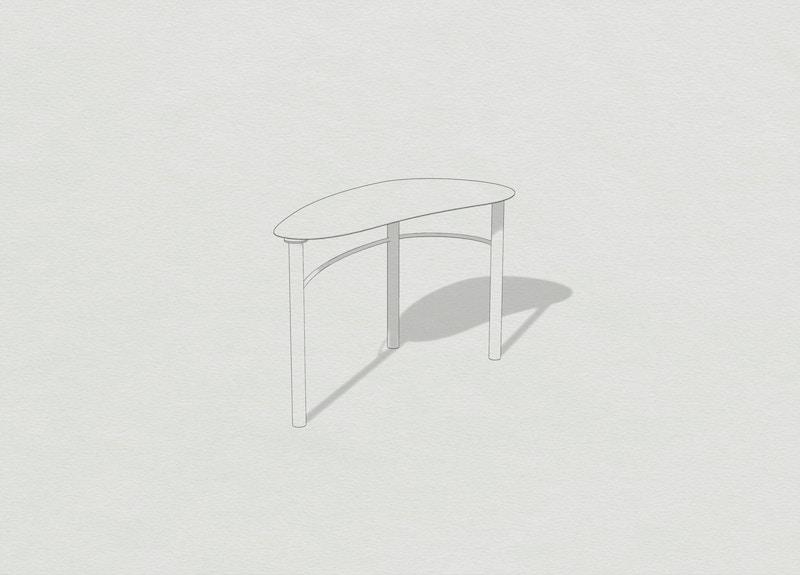 Metal Desk - Metal Wandle Desk