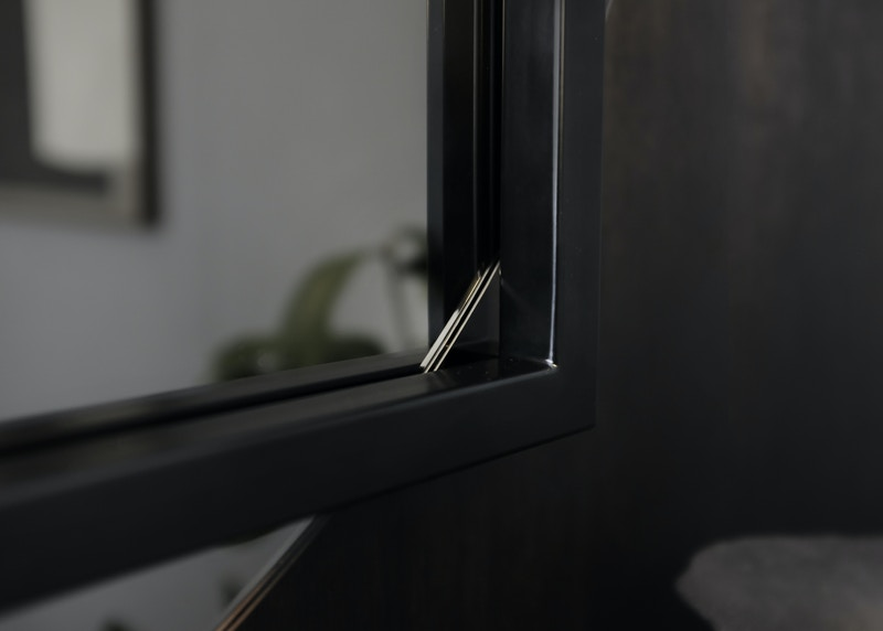 Mirror - Thoralby Mirror - Horizontal Mirror - Bronze Mirror Detail