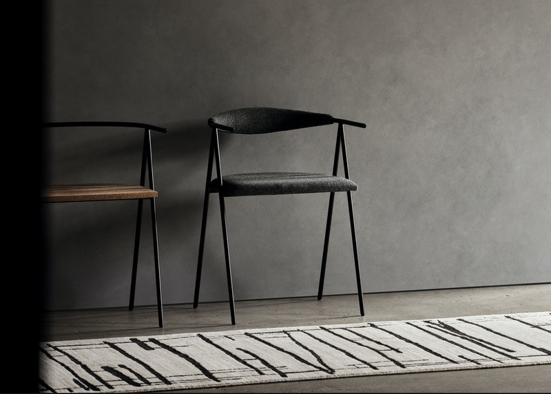 Timperly dining chair - Christian Watson chair - Metal dining chairs