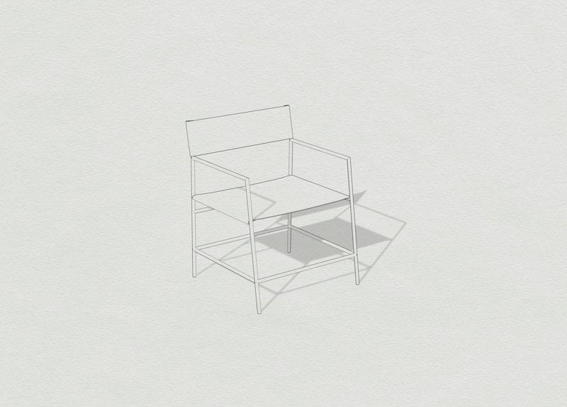 Metal Armchair - Leather Armchair