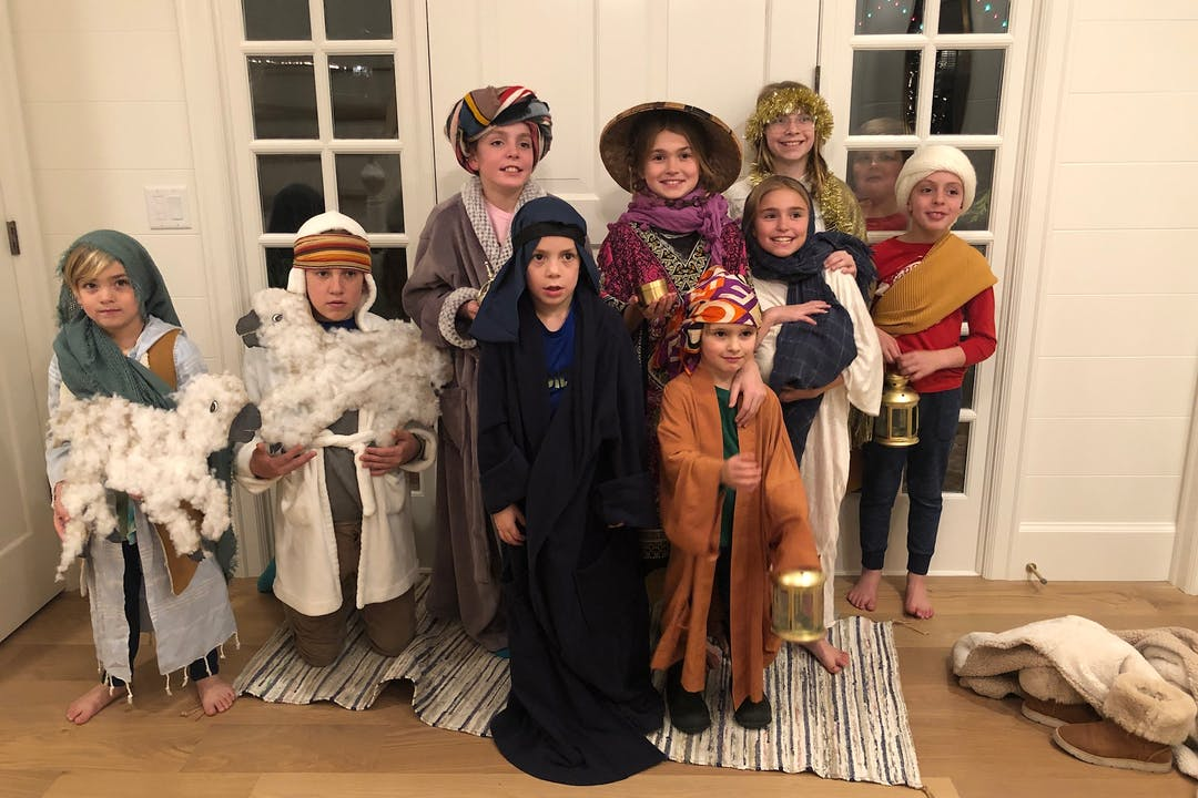 holiday tradition kids nativity