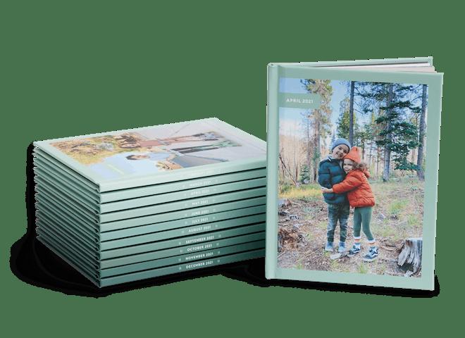 Monthly photo books