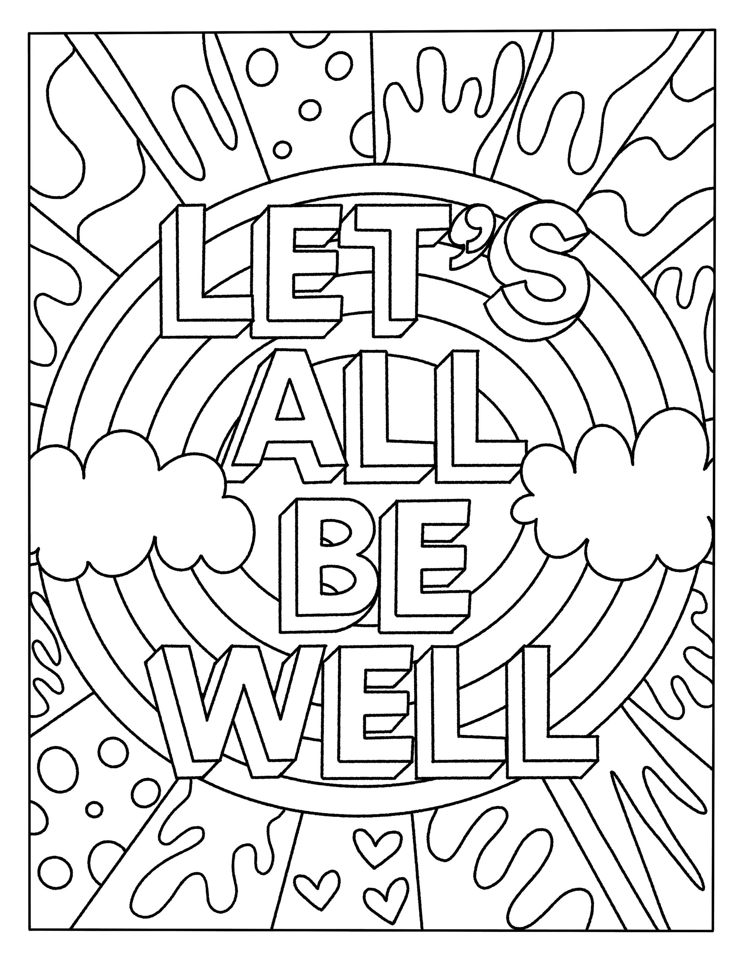 - Rainbow Coloring Book Page - Inspirational Quote Coloring Page