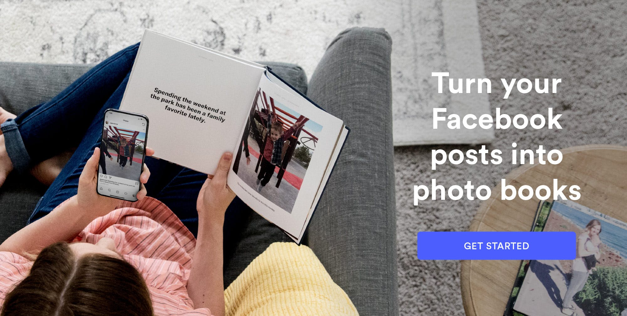 Turn your Instagram posts into photo books.