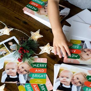 addressing holiday cards