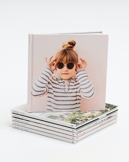 Instagram photo books with little girl on cover