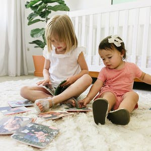 Little girls with Chatbooks