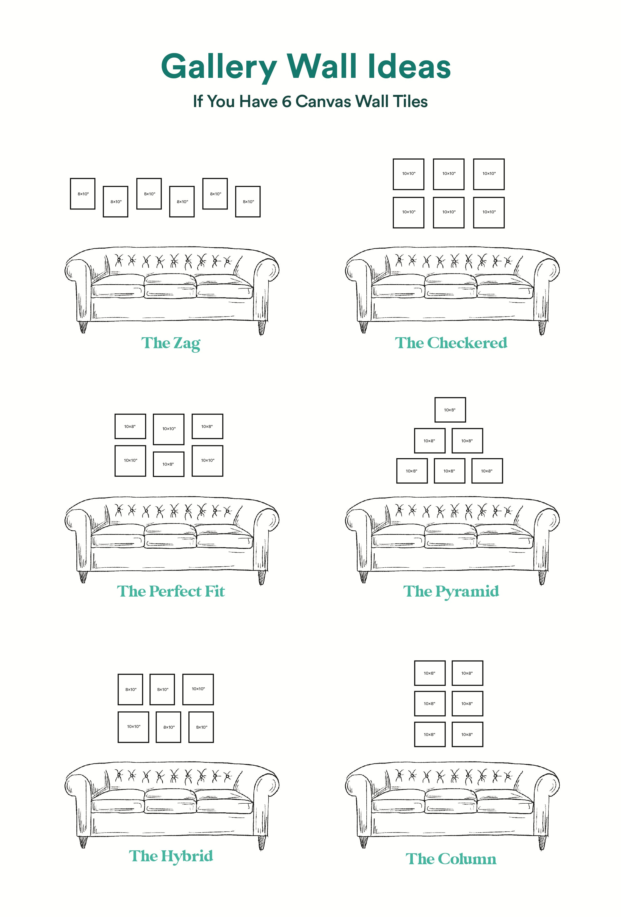 18 Gallery Wall Layouts And Ideas For 2020 Gallery Wall Layout Generator Chatbooks