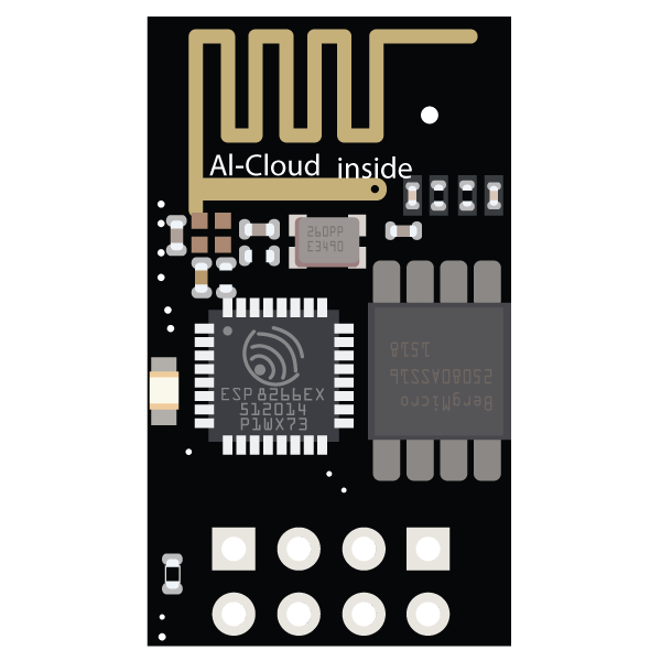 ESP8266-01 WiFi Module - component image 1