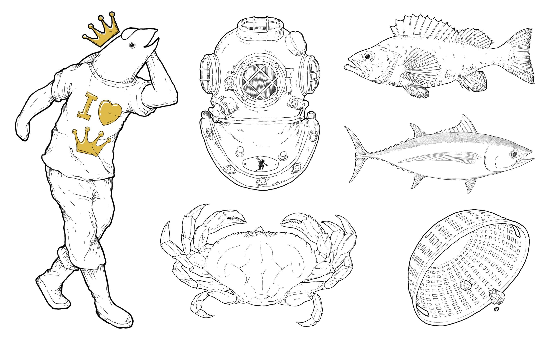 Fishpeople - Illustration