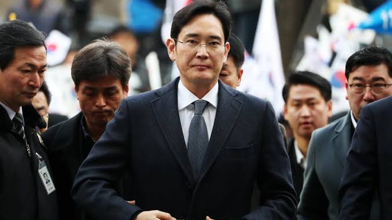 Samsung's vice chairman and heir, Jay Lee who is facing prosecution over alleged merger fraud