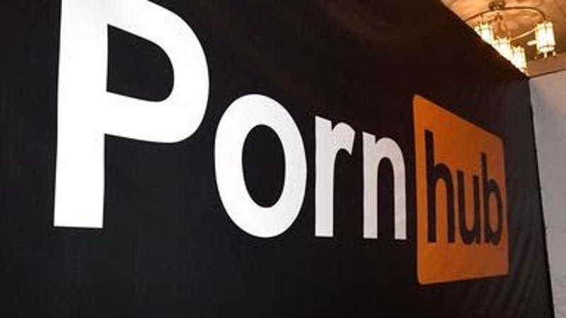Pornhub logo; porn website dedicated to adults contents.