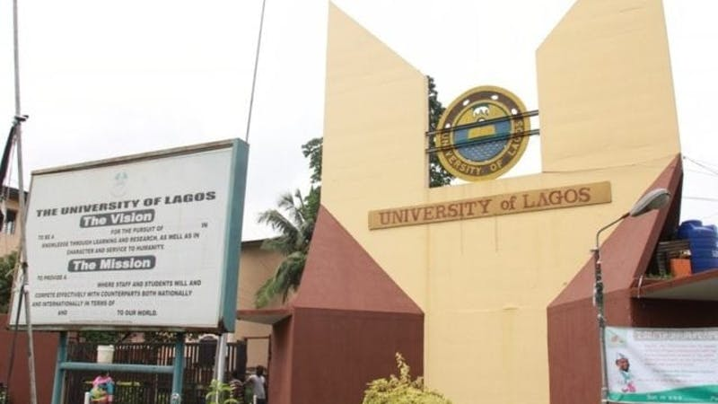 The front gate of University of Lagos