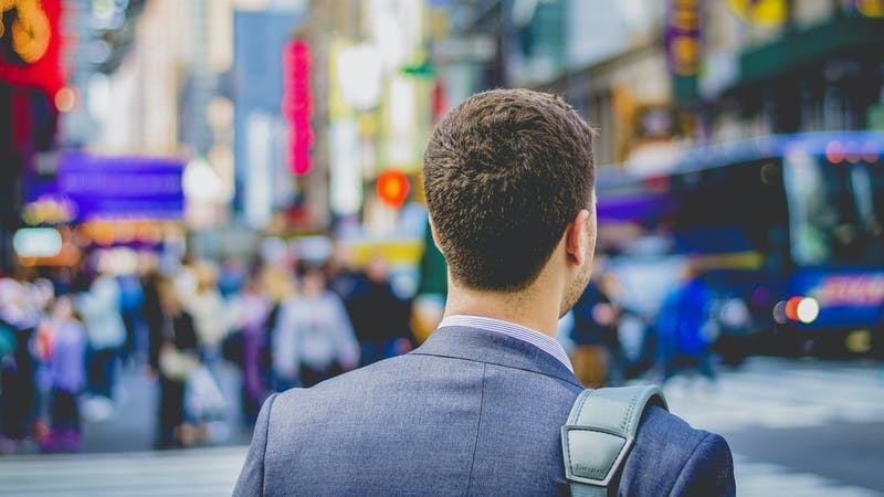 Career choice: A man on his first day at work