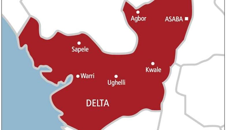 Delta State map showing different Local Governments  in the State