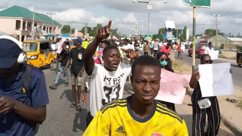 Taraba state has imposed an indefinite curfew due to looting from protesters