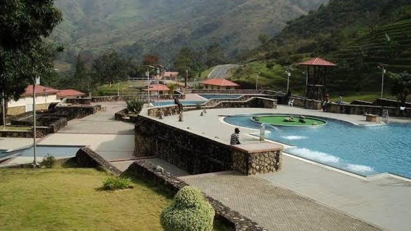 The poolside at obudu cattle ranch