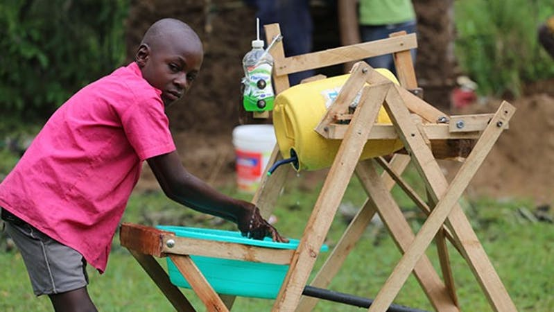 Stephen Wamukota, the young Kenyan boy that received the Presidential Order of Service, Uzalendo Award for inventing a handwashing machine