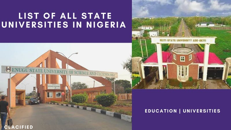List of all state universities in Nigeria