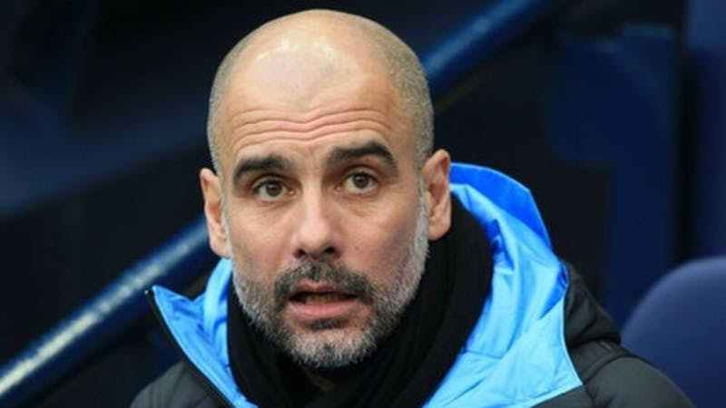 Manchester City manager Pep Guardiola during a home match at Etihad stadium