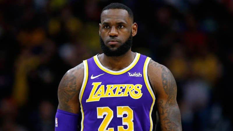 Los Angeles Lakers superstar LeBron James in action for the club