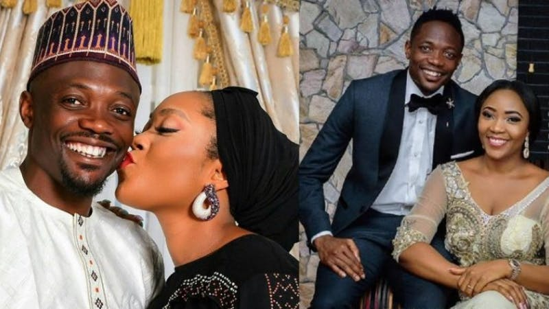 Ahmed Musa under attack for sharing loved-up photo with wife