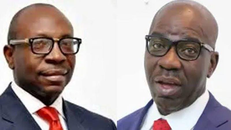 Edo PDP candidate, Governor Godwin Obaseki and the APC candidate, Pastor Osagie Ize-Iyamu