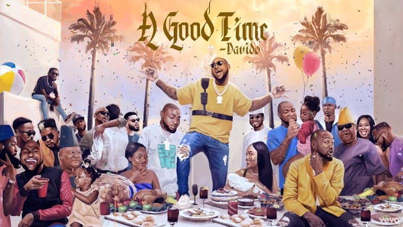 "Davido's ""A Good Time"" album front page"