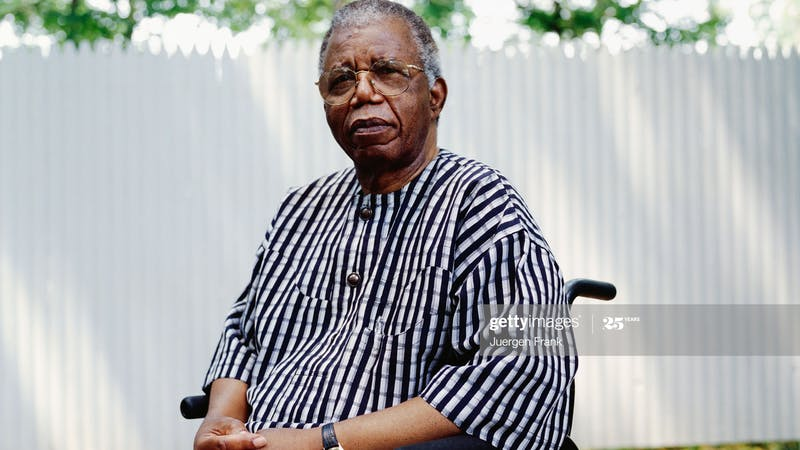 Abert Chinua Achebe, the novelist and African Literary icon with many literary awards