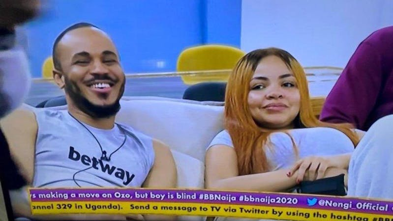 Nengi and Ozo, BBNaija 2020 Housemates