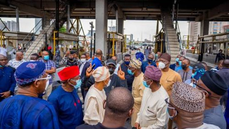 South West Governors pay a visit to Babajide Sanwo-Olu, tour Lagos state and express shock at massive destruction of private and public facilities during the #EndSARS protest.