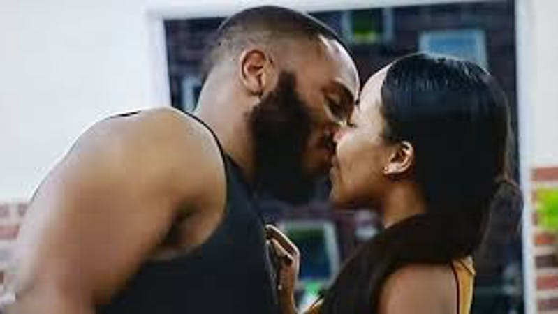 Erica and Kiddwaya  who are lovers kissing in Big Brother House