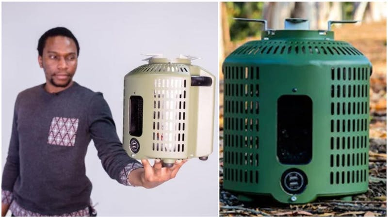 The 26-year-old Nigerian, Max Chinnah who invented a smokeless stove that cooks and charges phones