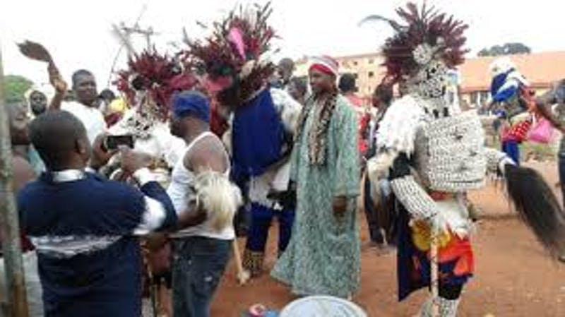 Akatakpa Owa Egara which ios one of the most adorn Akatakpa and also the most beautiful Akatakpa which is known for its magical dancing step.