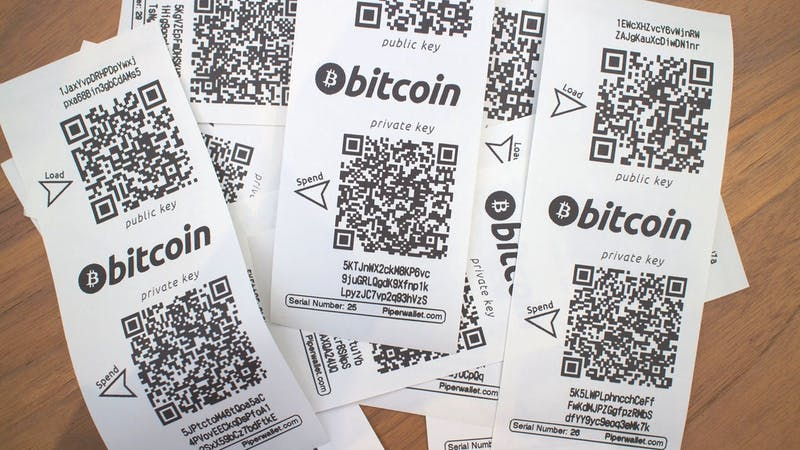 An Example of Bitcoin Paper wallet