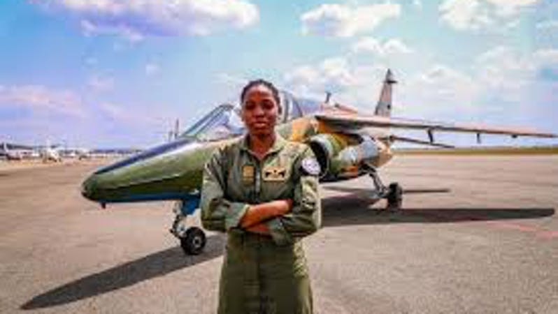 First Nigerian female combat helicopter pilot, Flying Officer Tolulope Arotile