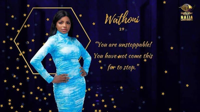 Big Brother Naija (BBNaija) housemate, Wathoni, shares the story of how she got pregnant without sex