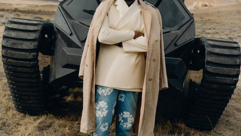 American Rapper and businessman Kanye West.