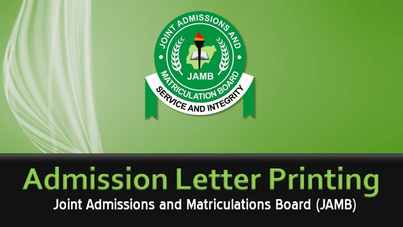 Procedure on how to print your JAMB admission letter
