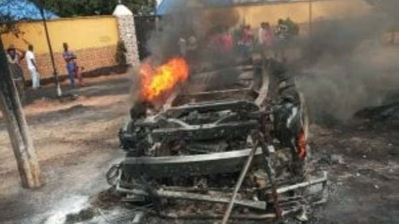 An accident that happened along Ihiala road on Anambra that burnt passengers beyond recognition.