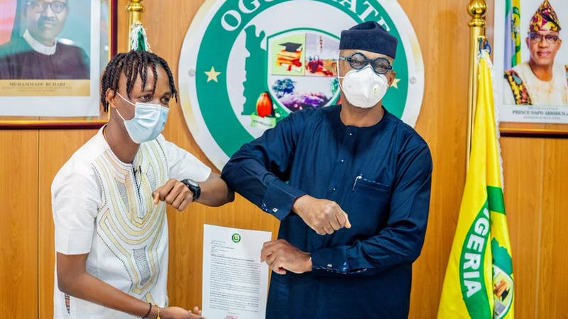 BBnaija winner Latcon has been given an appointment as Ogun State Youth Ambassador by the state's governor