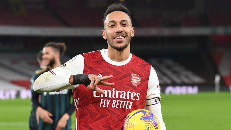 Aubameyang scored a hattrick against Leeds United to mark his return to the Premier League giving Arsenal a boost