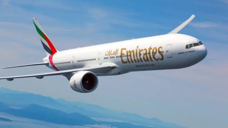 Dubai Emirates airlines, one of the world's biggest long-haul airlines