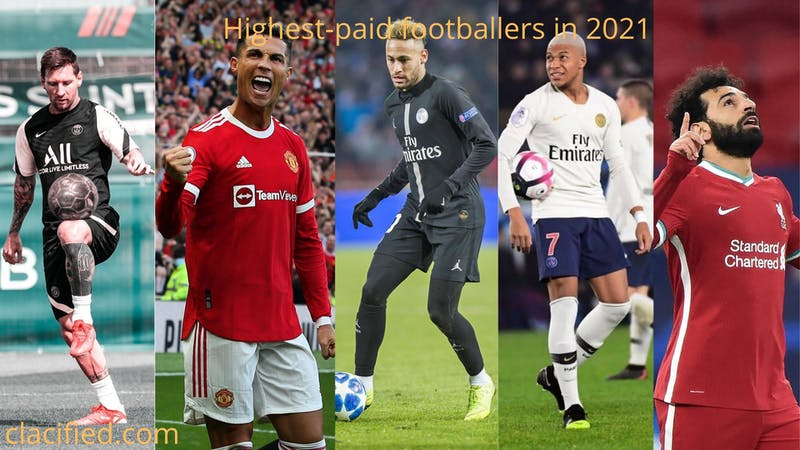 Full list of top highest-paid footballers in 2021