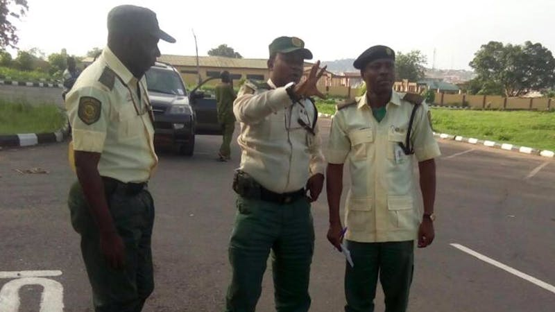 Officials of the Ogun State Traffic Compliance and Enforcement Corps (TRACE)