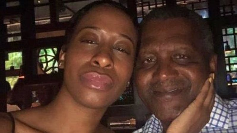 Viral picture of Aliko Dangote and Bea Lewis his ex-girlfriend who claimed Dangote broke her heart