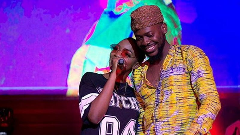 Singer Adekunle gold and his wife, Simi