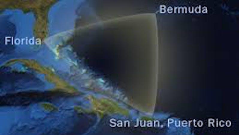 Bermuda Triangle which cuts across Bermuda, Florida, Puerto Rico