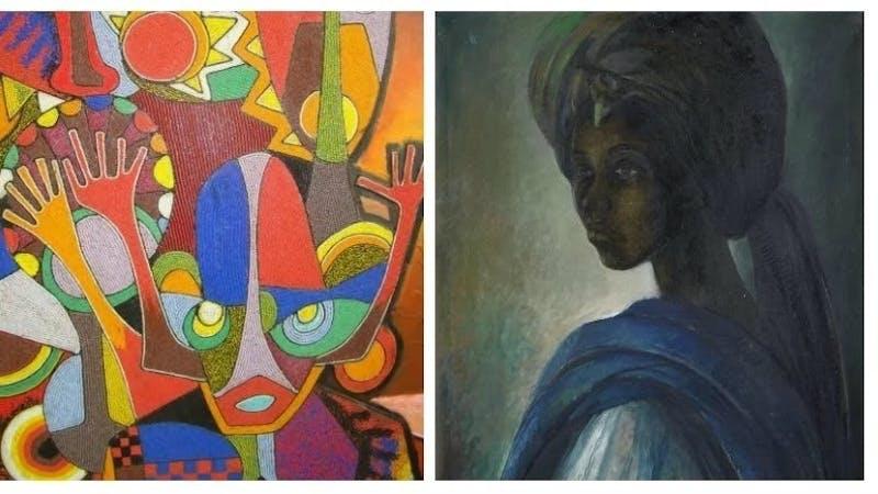 Famous paintings by talented Nigerian artists like Ben Enwonwu, Njideka Akunyili Crosby, Clement Nwafor, Toyin Ojih