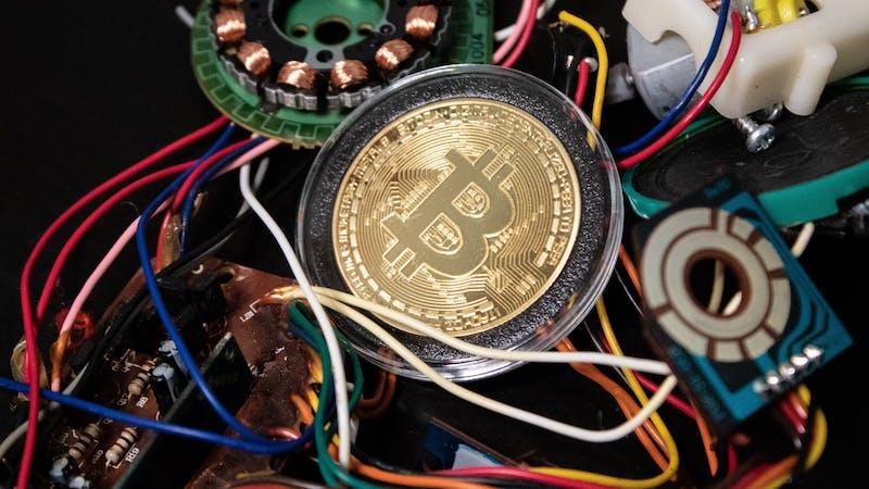 The bitcoin blockchain system.